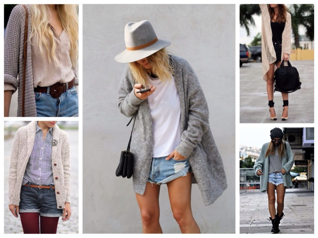 Cardigans and shorts