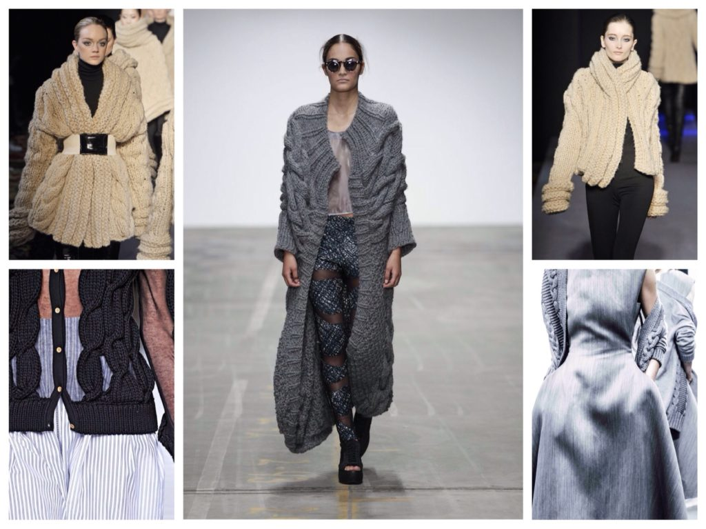 cardigans on the runways