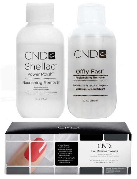 CND shellac Nourishing Remover и offli fast коллаж