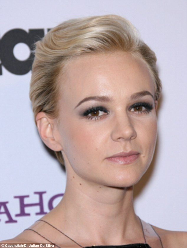 Carey Mulligan is an example of the upturned nose, the facial plastic surgeon says