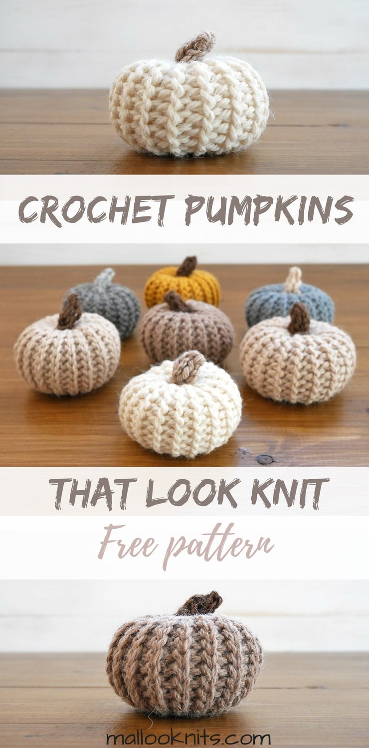 Crochet pumpkins pattern that actually look knit