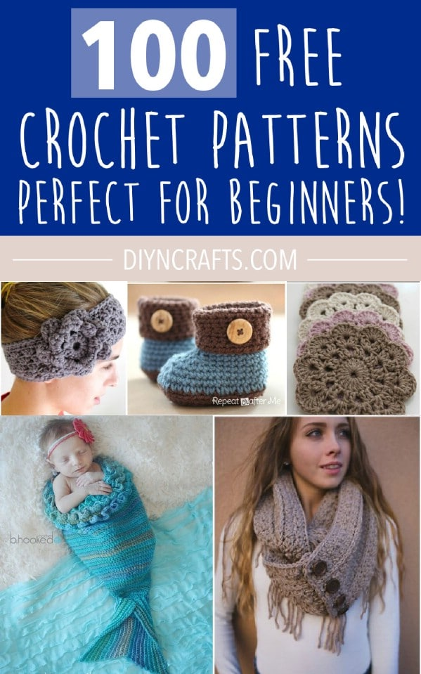 Collage photo of the crochet patterns.